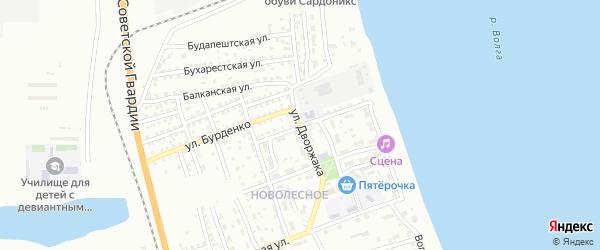 Улица Дворжака на карте Астрахани с номерами домов