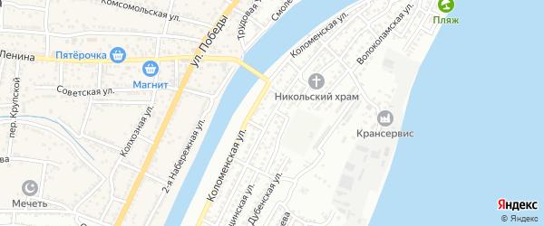 Можайская улица на карте Астрахани с номерами домов
