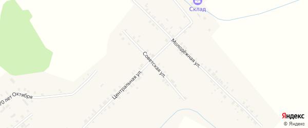 Советская улица на карте села Байгулово с номерами домов