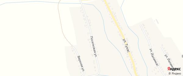 Поселковая улица на карте деревни Старое Янашево с номерами домов