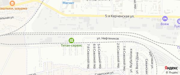 Улица Нефтяников на карте Астрахани с номерами домов