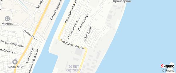 Серпуховская улица на карте Астрахани с номерами домов