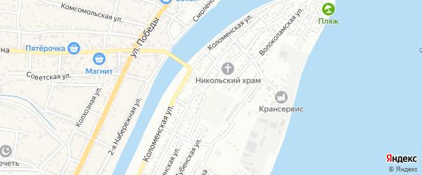Мытищинская улица на карте Астрахани с номерами домов