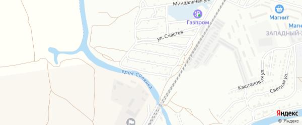 Фруктовая 4-я улица на карте Астрахани с номерами домов