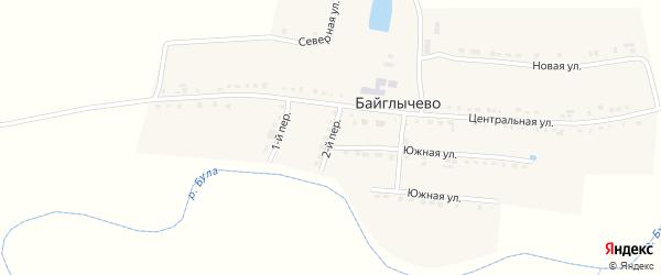 2-й переулок на карте села Байглычево с номерами домов