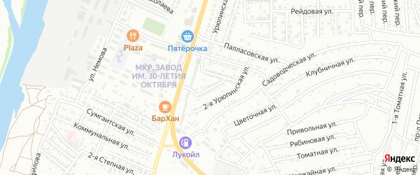 Лысогорский переулок на карте Астрахани с номерами домов