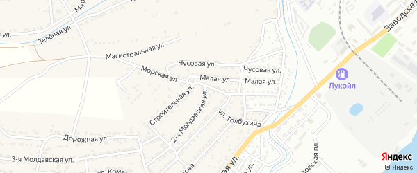 Морская улица на карте села Старокучергановка с номерами домов