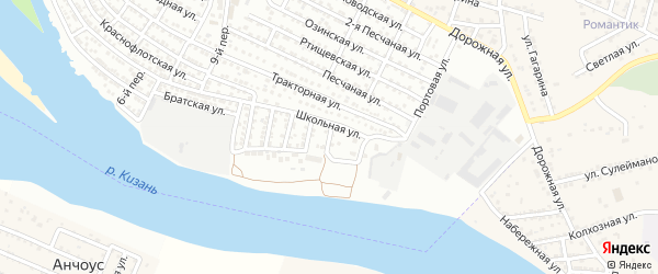 Кожевенная улица на карте Астрахани с номерами домов
