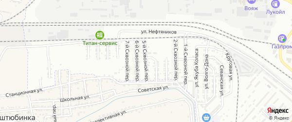 Сквозной 5-й переулок на карте Астрахани с номерами домов