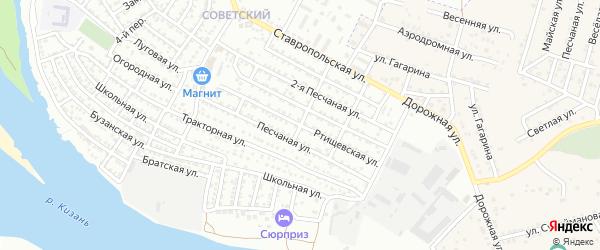 Ртищевская улица на карте Астрахани с номерами домов
