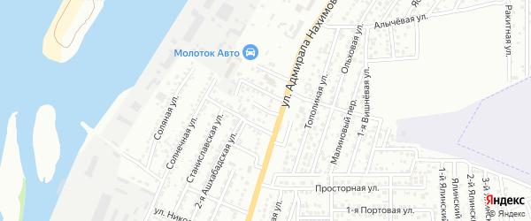 Самарский 1-й переулок на карте Астрахани с номерами домов