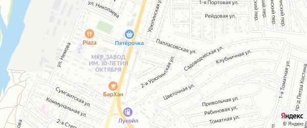 Лысогорская улица на карте Астрахани с номерами домов