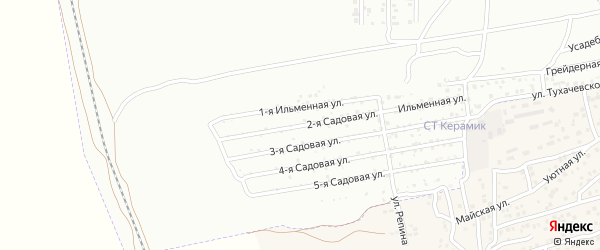 Ильменная 3-я улица на карте Астрахани с номерами домов