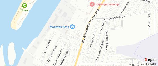 Самарский 3-й переулок на карте Астрахани с номерами домов