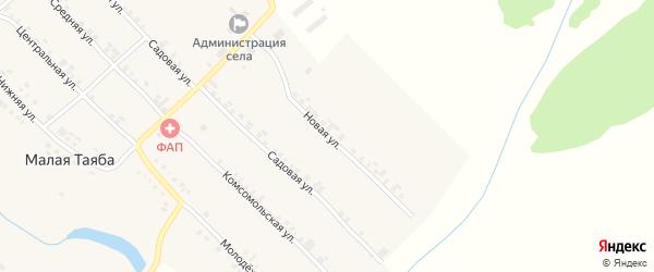 Новая улица на карте деревни Малой Таяба с номерами домов
