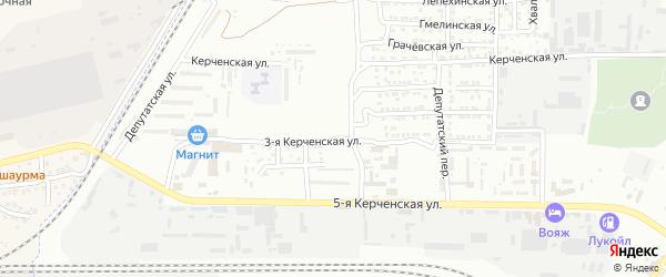 Керченская 3-я улица на карте Астрахани с номерами домов