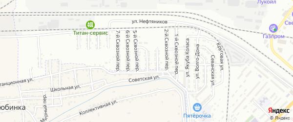 Сквозной 4-й переулок на карте Астрахани с номерами домов