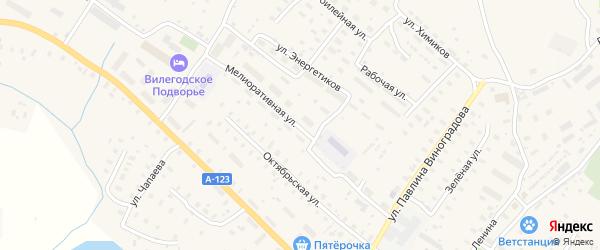 Мелиоративная улица на карте Ильинско-Подомского села с номерами домов