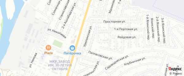 Красносельская улица на карте Астрахани с номерами домов