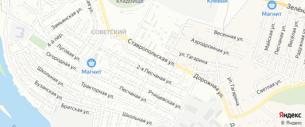 Красноводская улица на карте Астрахани с номерами домов