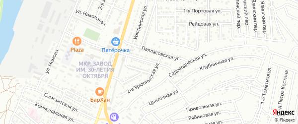 Лысогорская 2-я улица на карте Астрахани с номерами домов