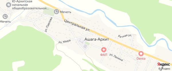 Улица Пушкина на карте села Ашага-Архит с номерами домов