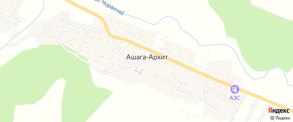 Комсомольская улица на карте села Ашага-Архит с номерами домов