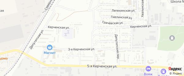 Депутатский 1-й переулок на карте Астрахани с номерами домов