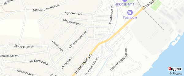 Улица Толбухина на карте Астрахани с номерами домов