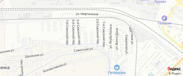 Набережный 3-й переулок на карте Астрахани с номерами домов
