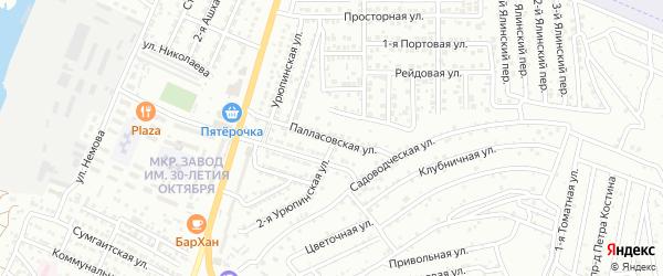 Палласовская улица на карте Астрахани с номерами домов