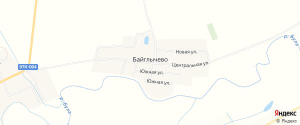 Карта села Байглычево в Чувашии с улицами и номерами домов