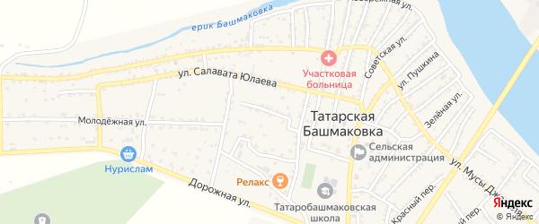 Тепличная улица на карте села Татарской Башмаковки с номерами домов