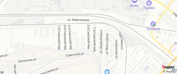Сквозной 2-й переулок на карте Астрахани с номерами домов
