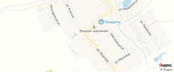 Улица Анаткас на карте деревни Старое Янашево с номерами домов
