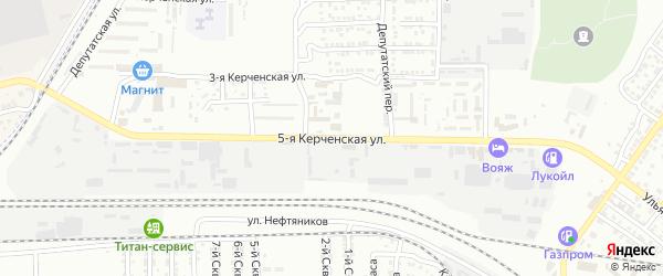 Керченская 5-я улица на карте Астрахани с номерами домов