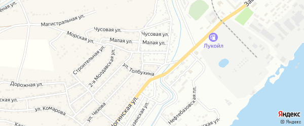 Улица Макаренко на карте Астрахани с номерами домов