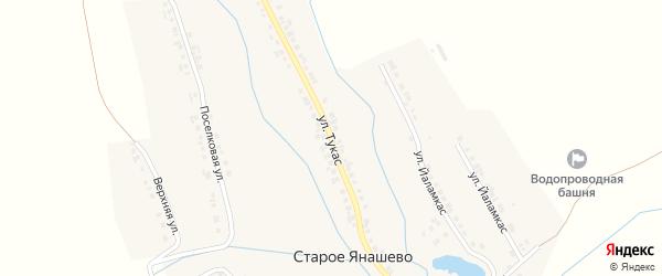 Улица Тукас на карте деревни Старое Янашево с номерами домов