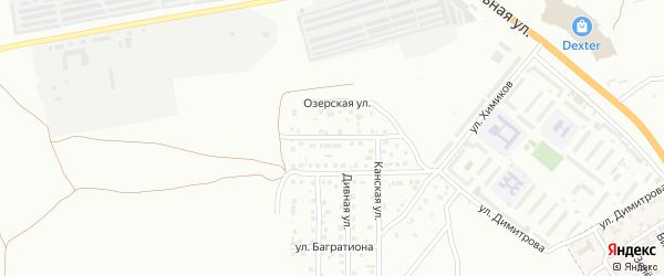 Улица Дениса Давыдова на карте Астрахани с номерами домов