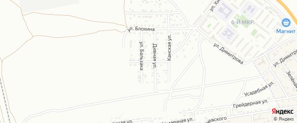 Улица Багратиона на карте Астрахани с номерами домов