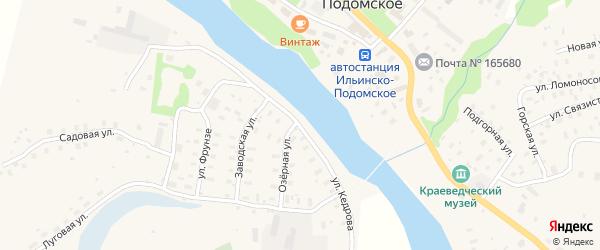 Улица Кедрова на карте Ильинско-Подомского села с номерами домов