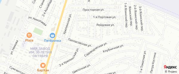 Приморская улица на карте Астрахани с номерами домов