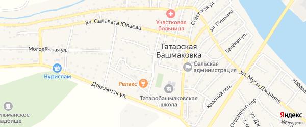 Боевая улица на карте села Татарской Башмаковки с номерами домов
