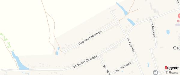 Перспективная улица на карте деревни Старые Урмары с номерами домов