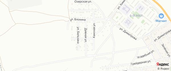 Дивная улица на карте Астрахани с номерами домов