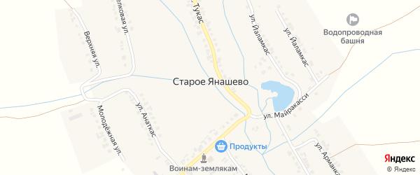 Улица Арманкас на карте деревни Старое Янашево с номерами домов