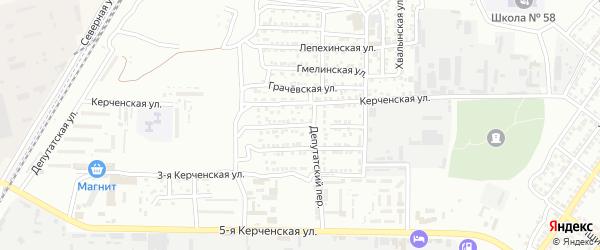 Керченская 1-я улица на карте Астрахани с номерами домов