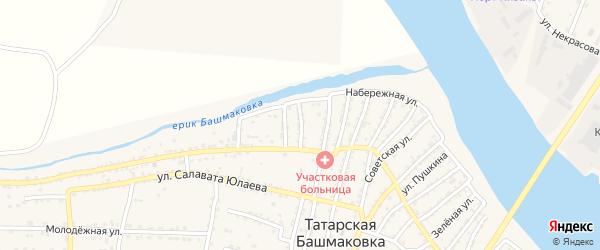 Кизанская улица на карте села Татарской Башмаковки с номерами домов