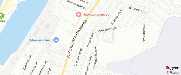 Ольховая улица на карте Астрахани с номерами домов