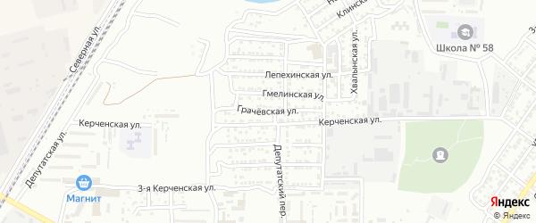 Грачевская улица на карте Астрахани с номерами домов